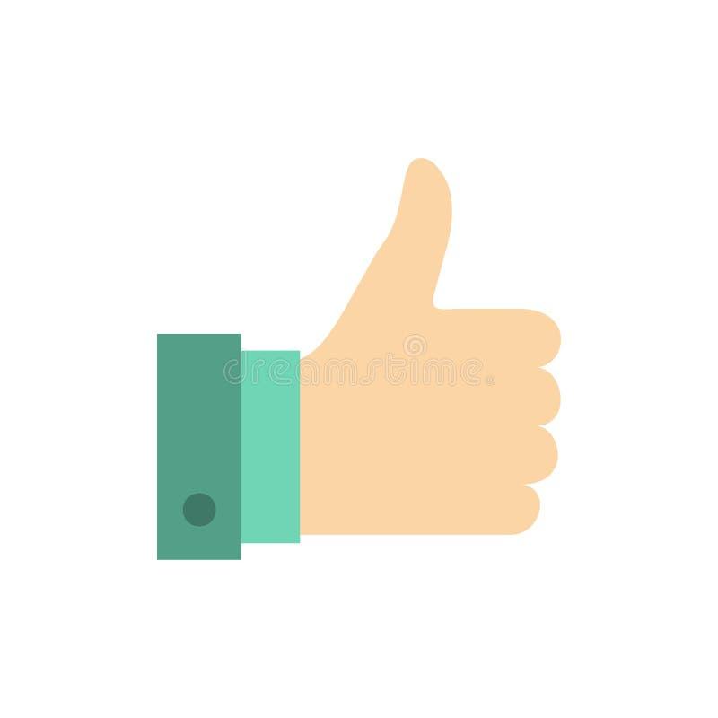 Appréciez, des remarques, bonnes, comme l'icône plate de couleur Calibre de bannière d'icône de vecteur illustration stock