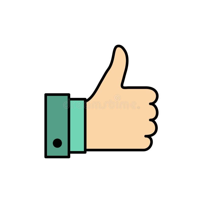 Appréciez, des remarques, bonnes, comme l'icône plate de couleur Calibre de bannière d'icône de vecteur illustration libre de droits