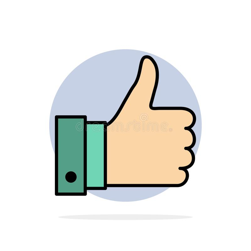 Appréciez, des remarques, bonnes, comme l'icône plate de couleur de fond abstrait de cercle illustration libre de droits