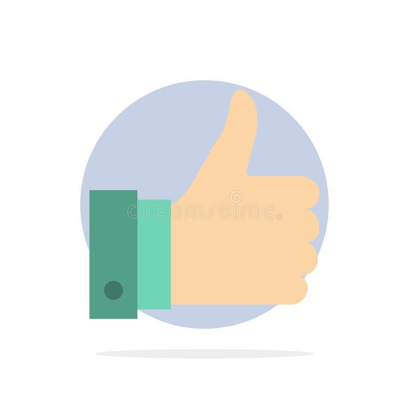 Appréciez, des remarques, bonnes, comme l'icône plate de couleur de fond abstrait de cercle illustration stock