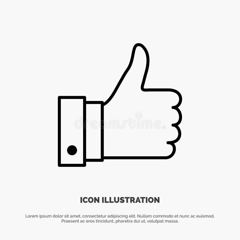 Appréciez, des remarques, bonnes, comme la ligne vecteur d'icône illustration de vecteur