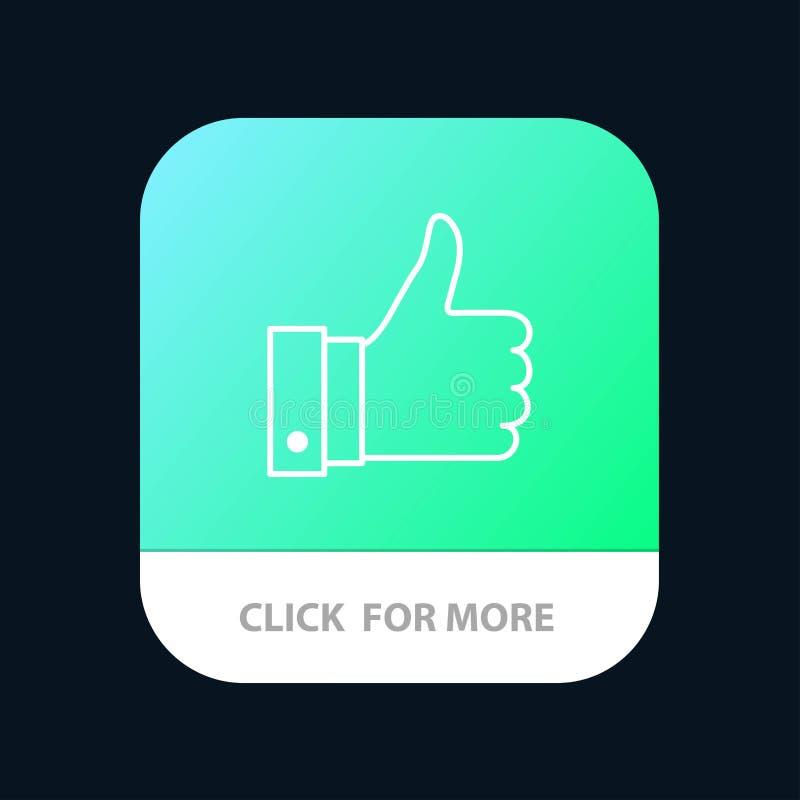 Appréciez, des remarques, bonnes, comme le bouton mobile d'appli Android et ligne version d'IOS illustration stock