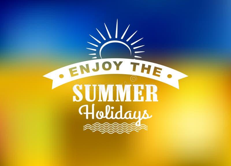 Appréciez l'affiche de vacances d'été illustration libre de droits