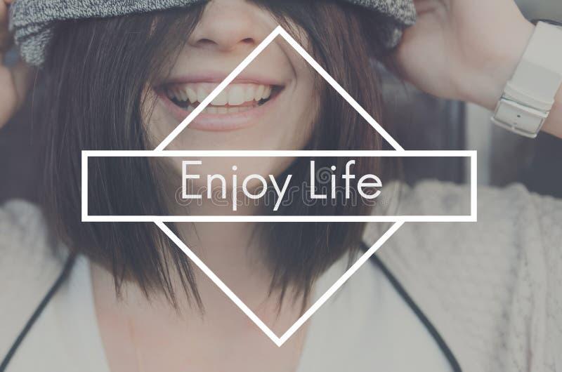Appréciez le concept de Live Love Like Love Joy de bonheur de la vie photo libre de droits