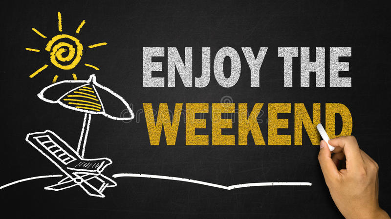 Appréciez le concept de week-end image stock