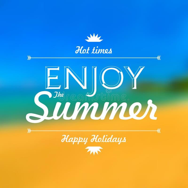 Appréciez le fond de tache floue d'affiche de vacances d'été illustration libre de droits