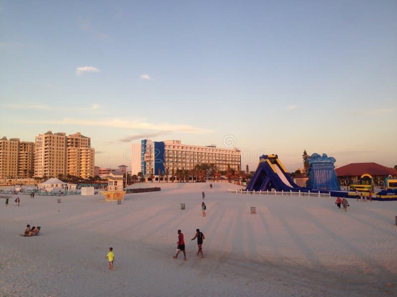 Appréciez le sable de Clearwater, Tampa photos libres de droits