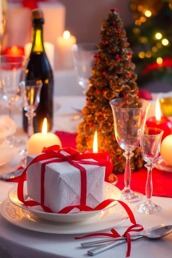 Appréciez votre dîner de Noël photographie stock libre de droits
