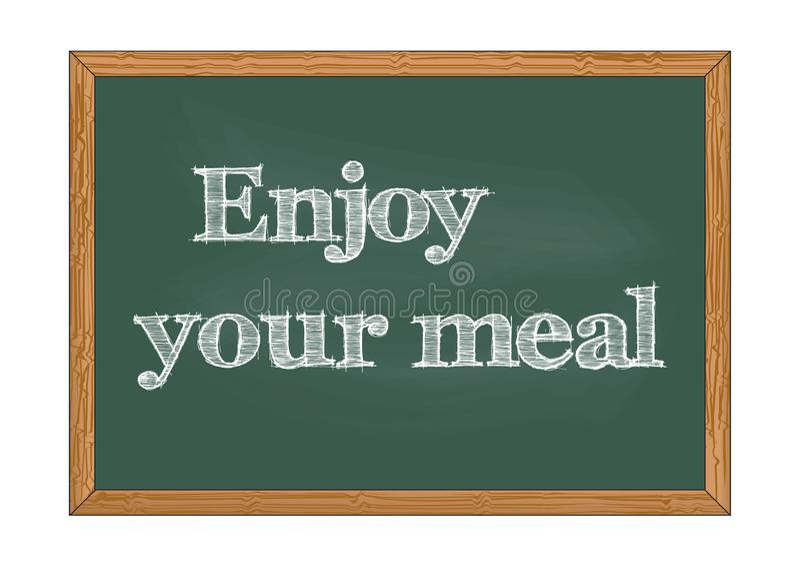 Appréciez votre illustration de vecteur d'avis de tableau de repas illustration stock
