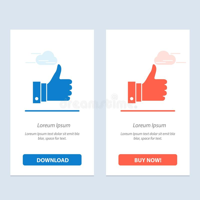 Appreciate, Remarks, Good, Like  Blue and Red Download and Buy Now web Widget Card Template vector illustration