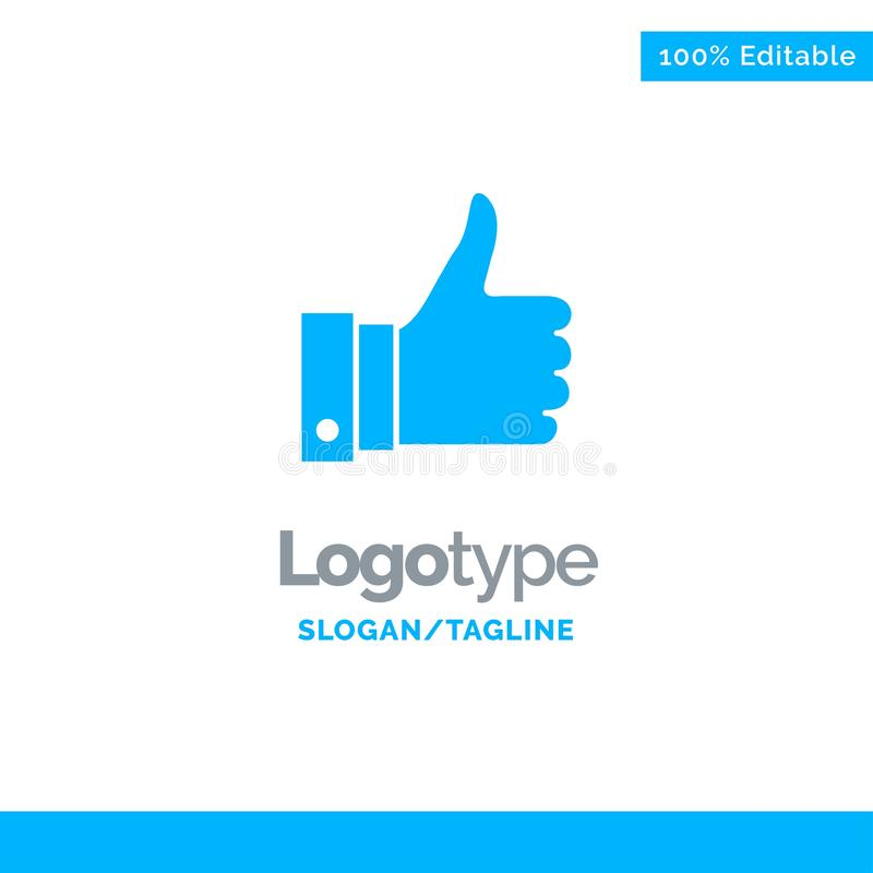 Appreciate, Remarks, Good, Like Blue Solid Logo Template. Place for Tagline stock illustration