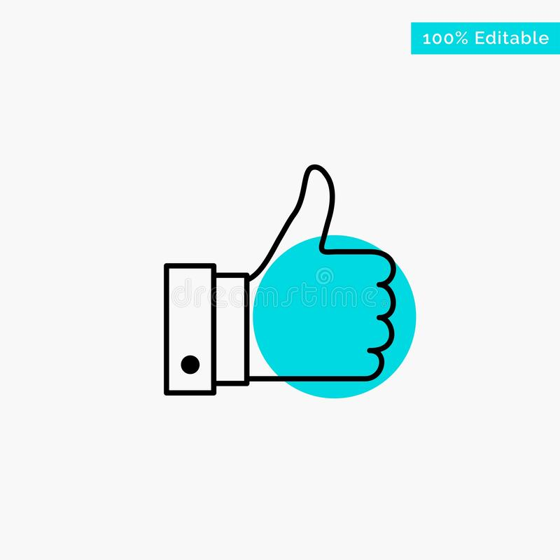 Appreciate, Remarks, Good, Like turquoise highlight circle point Vector icon stock illustration