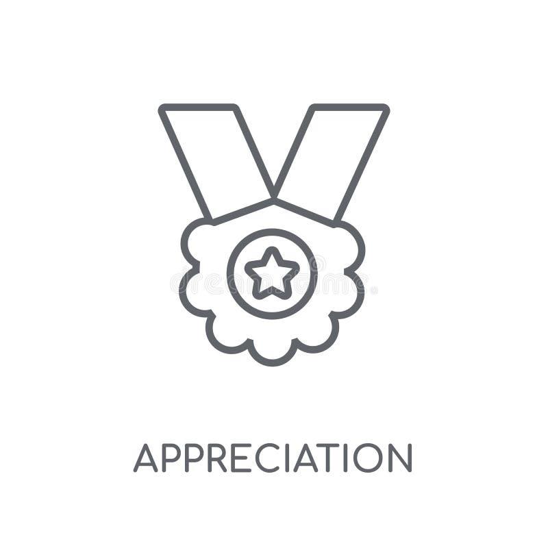 Appreciatie lineair pictogram Moderne het embleemconce van de overzichtsappreciatie vector illustratie