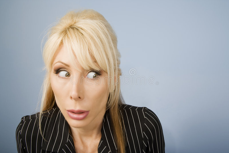 Apprehensive woman royalty free stock photo