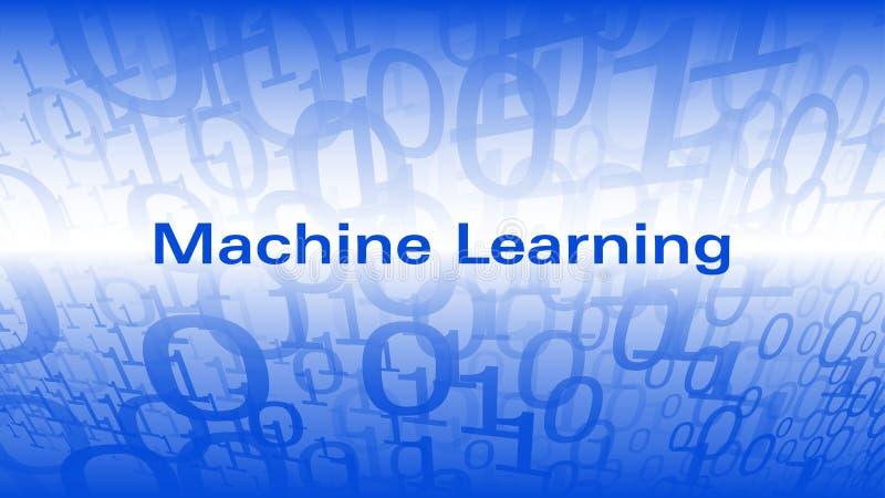 Apprendimento automatico creativo dell'illustrazione, cifre una di codice macchina zero illustrazione di stock