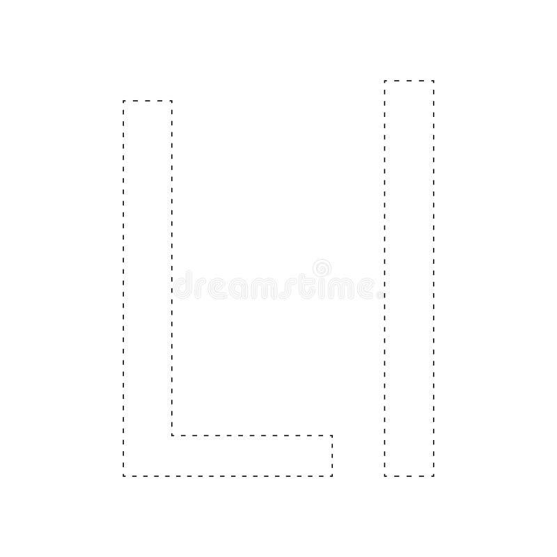 Apprendimento dell'alfabeto, lettera worksheet Apprendimento dell'alfabeto Colleghi i punti e la pagina di coloritura Gioco per i illustrazione vettoriale