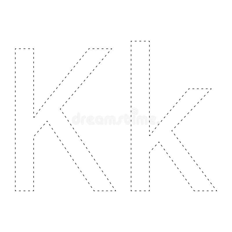 Apprendimento dell'alfabeto, lettera worksheet Apprendimento dell'alfabeto Colleghi i punti e la pagina di coloritura Gioco per i royalty illustrazione gratis