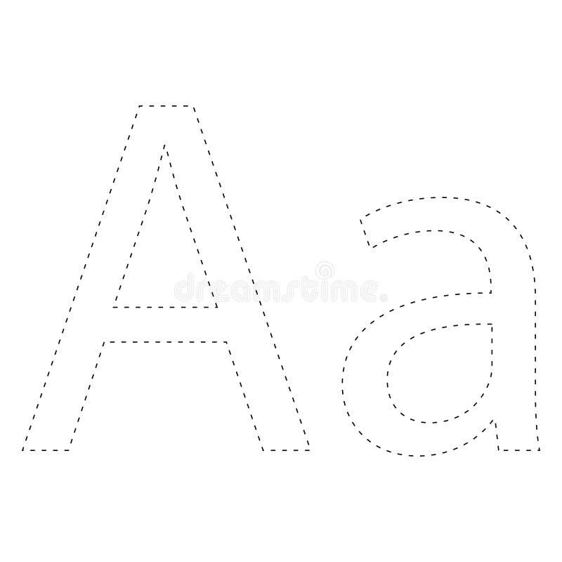 Apprendimento dell'alfabeto, lettera worksheet Apprendimento dell'alfabeto Colleghi i punti e la pagina di coloritura Gioco per i illustrazione di stock