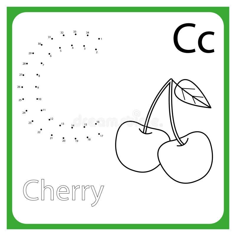 Apprendimento dell'alfabeto worksheet Apprendimento della lettera Pagina della pittura Illustrazione di vettore illustrazione vettoriale