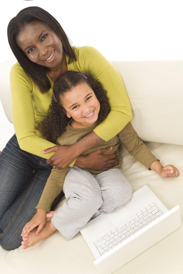 Apprendimento della famiglia immagine stock