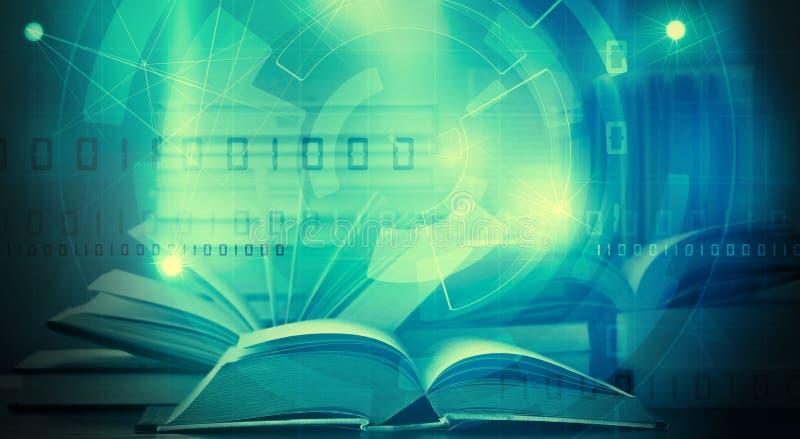 Apprendimento digitale del libro elettronico royalty illustrazione gratis