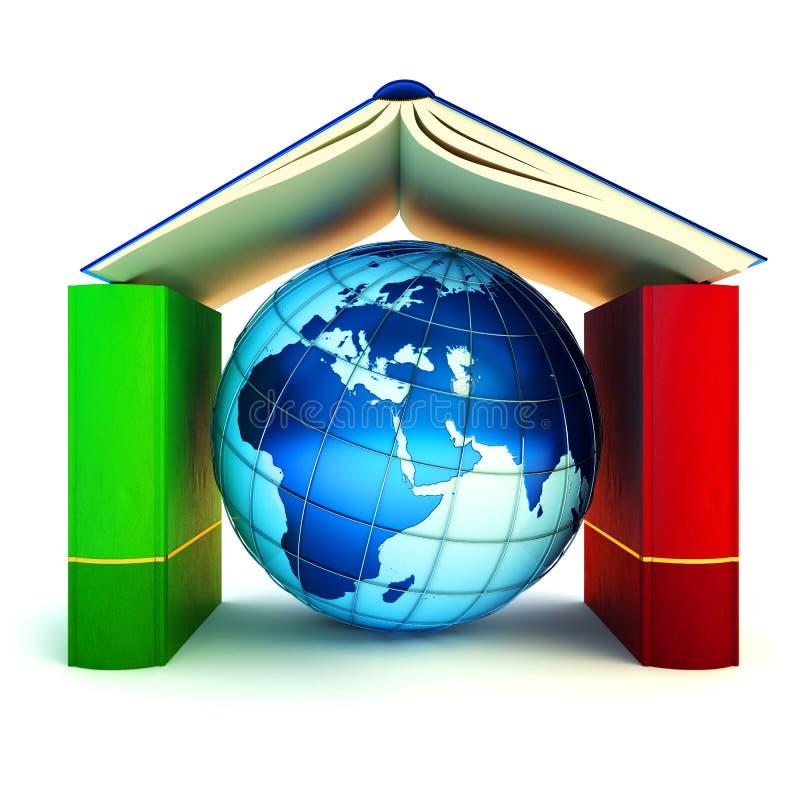 Apprendimento e concetto internazionale della scuola royalty illustrazione gratis