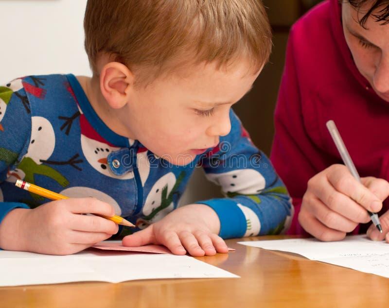 Apprendimento scrivere immagine stock libera da diritti