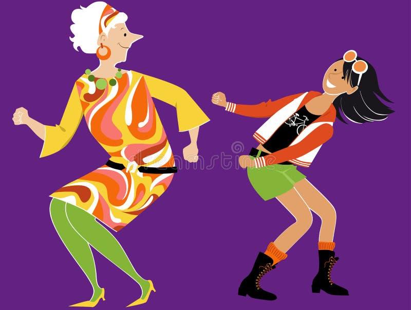 Apprendre à danser le fil illustration de vecteur
