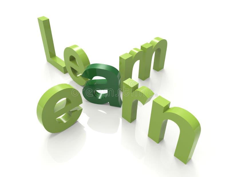 Apprenez gagnent illustration de vecteur