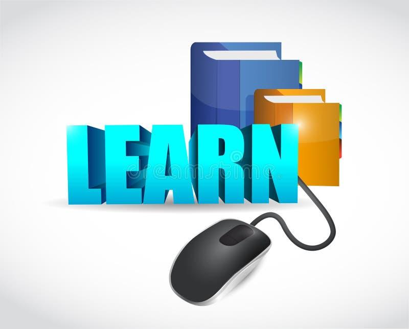 Apprenez l'illustration en ligne de concept d'éducation illustration libre de droits