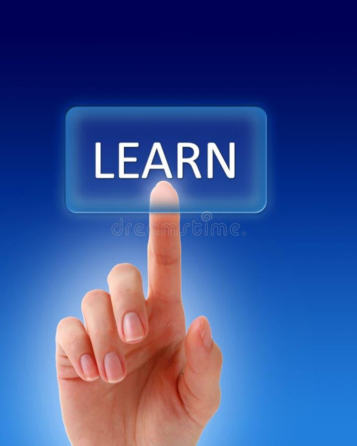 Apprenez le bouton. image libre de droits