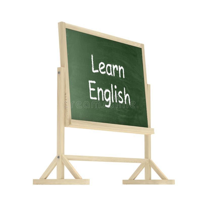 Apprenez le concept anglais Tableau noir, tableau dessus illustration de vecteur