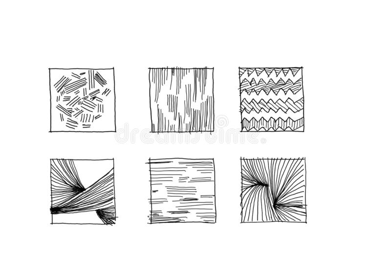 Apprenez le dessin avec des lignes images libres de droits