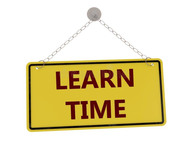 Apprenez le signe de temps illustration de vecteur