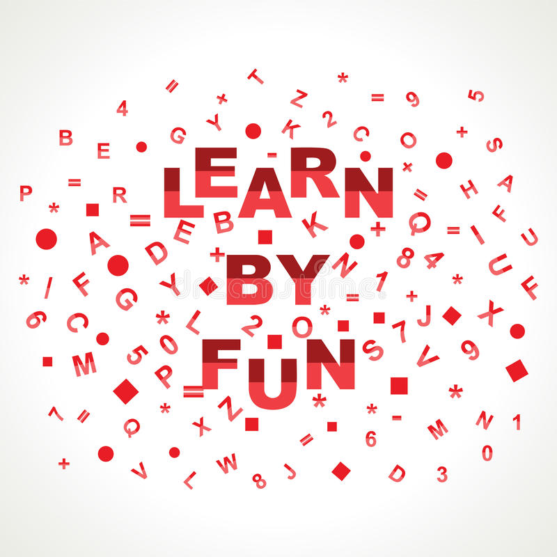 Apprenez par mot d'amusement avec dans des alphabets illustration libre de droits