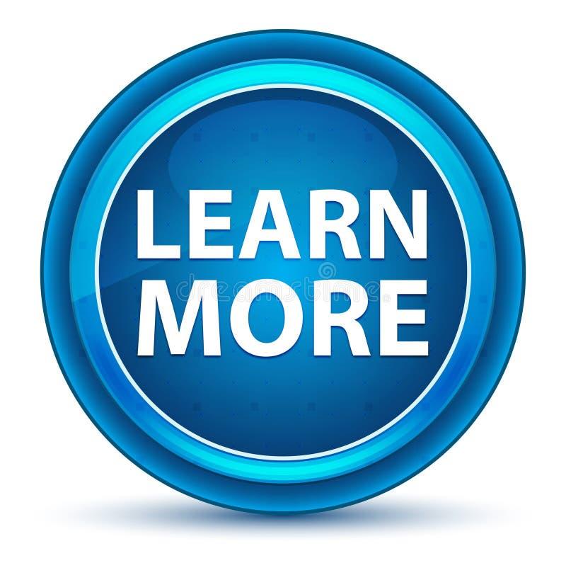 Apprenez plus de bouton rond bleu de globe oculaire illustration libre de droits