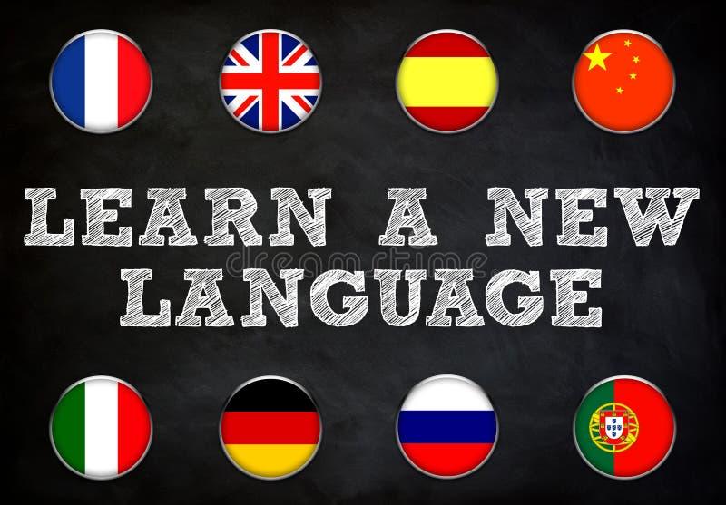 Apprenez une nouvelle langue illustration stock