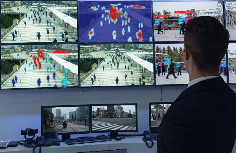 Apprentissage automatique d'Iot avec la reconnaissance d'humain et d'objet qui emploie l'intelligence artificielle à c de mesures image libre de droits