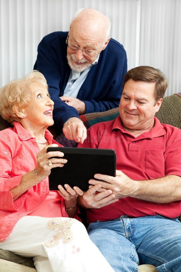 Apprentissage du PC de tablette photos stock