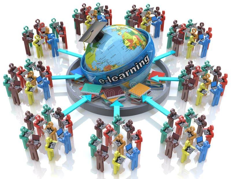 Apprentissage en ligne - concept en ligne d'éducation illustration libre de droits