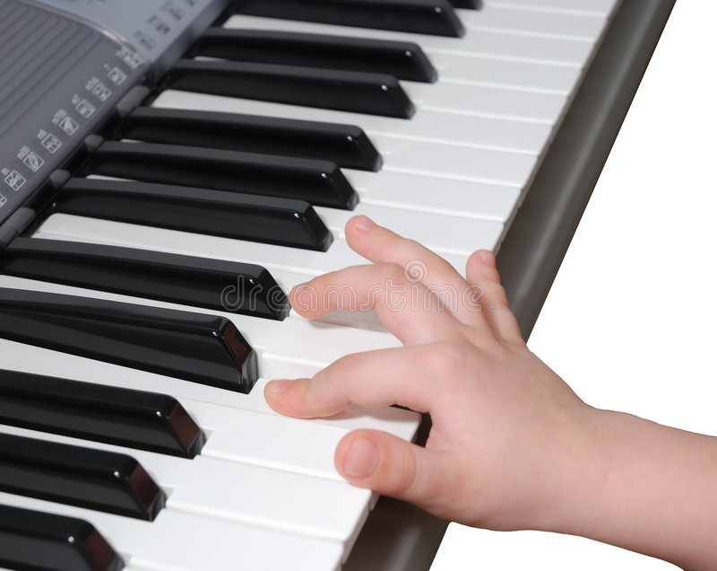 Apprentissage (piano) photographie stock
