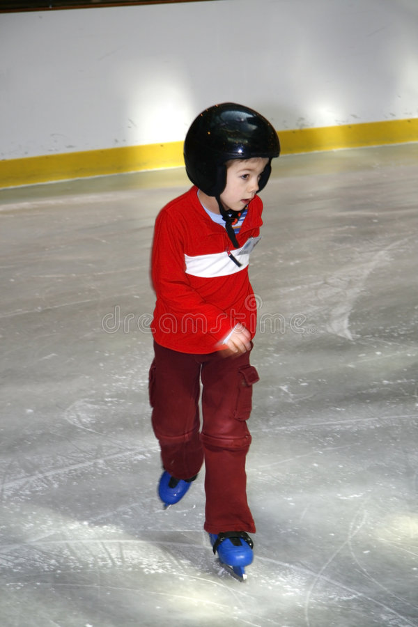 Apprentissage pour patiner photos libres de droits