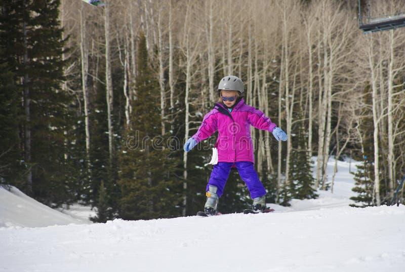 Apprentissage pour skier photographie stock