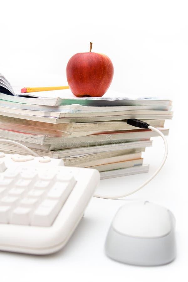 Apprentissage sur internet image stock