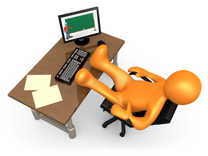Apprentissage sur internet illustration de vecteur