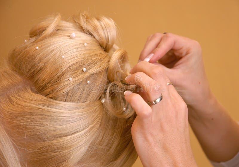 Apprettatrice dei capelli fotografie stock