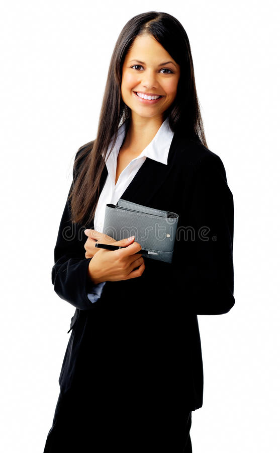 Approachable businesswoman stock images