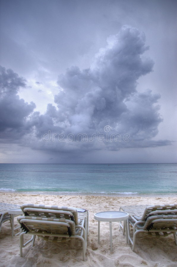 Approaching Clouds over Caribbean Sea stock photos