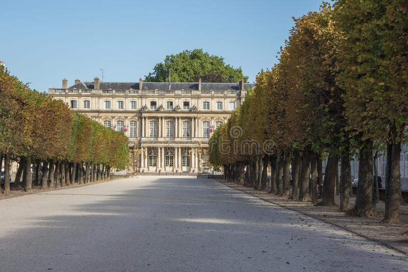 Approaching the Government Palace from Career Square. In Nancy stock image