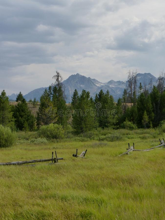 Bikepacking along the Hot Springs Route, central Idaho royalty free stock photography